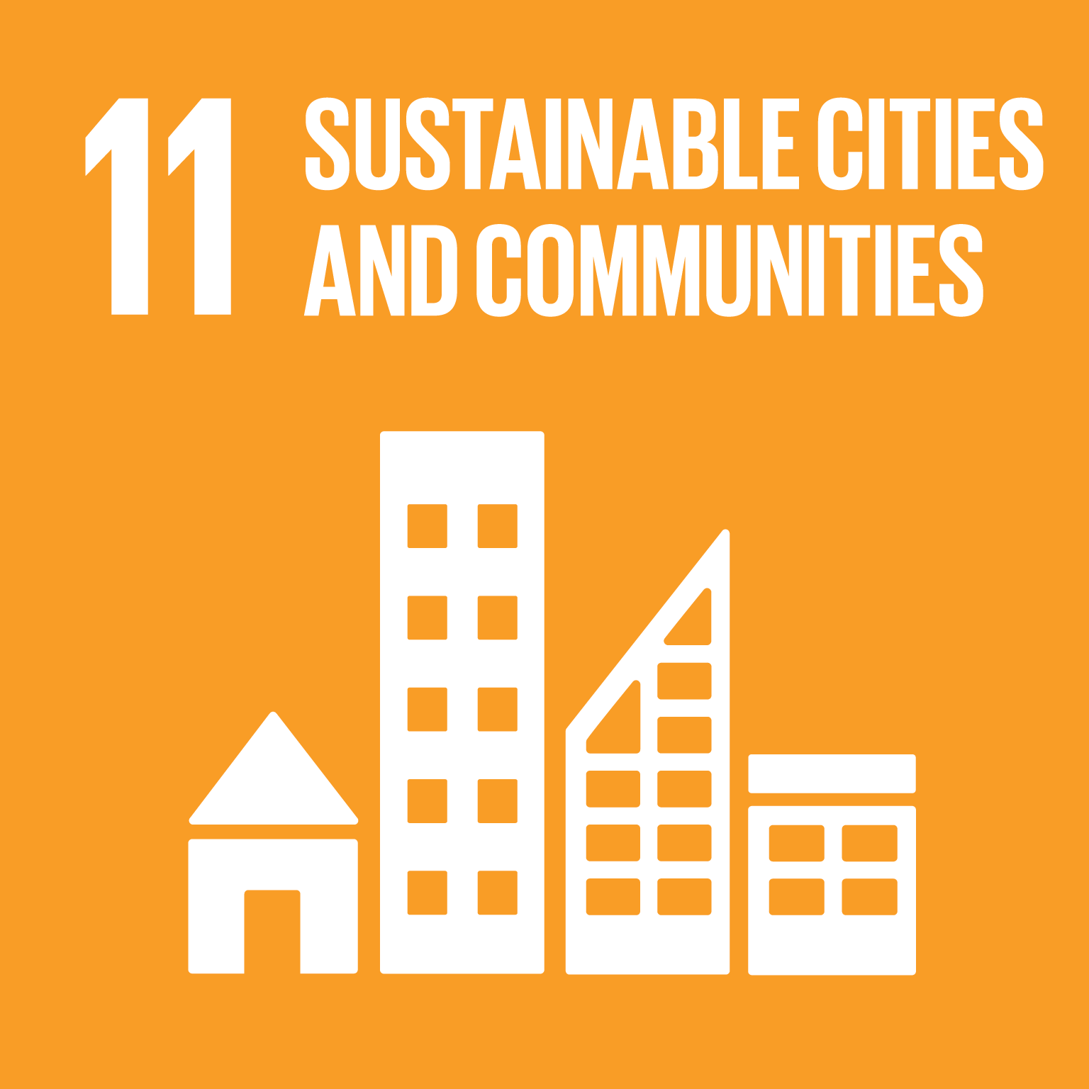 Icon for SDG 11 - sustainable cities and communities